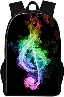 School Backpack for Children Bookbags High School Teenagers College Men Women Daypack Music Print