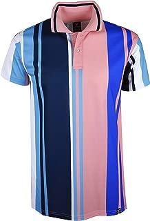 vertical striped polo shirt