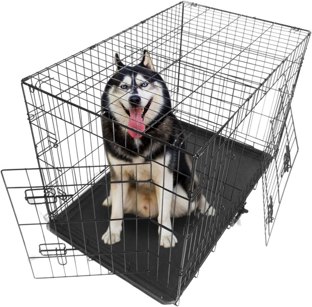 Balems Pets Dog Indefinitely Crate - 36inch Wire Foldable K Limited time for free shipping Metal Double-Door