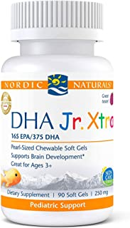 Nordic Naturals Pro DHA Jr. Xtra, Berry Punch - 90 Mini Chewable Soft Gels - 636 mg Total Omega-3s with EPA & DHA - Brain,...