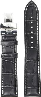 unisex-adult Leather Calfskin Watch Strap Black T600031121