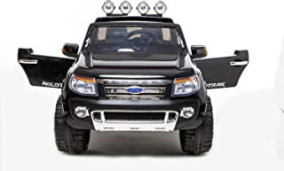 1234-Buy 2015 Ford Ranger Licensed Kids Ride on 12V Twin Motors Electric Car + parental remote control + open able door + battery capacity indicator + LED Lights + mp3 input + music volume control, available in colour Black, Blue and Red (Black) by Rideontoys4u