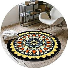 Area Rugs Round Floor Mat Nursery Rugs Retro European Style Living Room Sofa Bedroom Floor Mat Blended Material Washable a...
