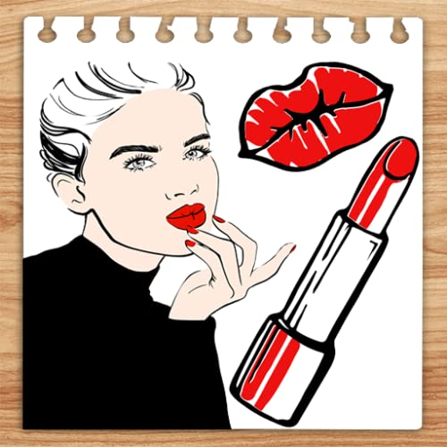 Coloring Book Lips with Makeup Set