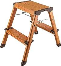 Tatkraft Uplift Hoogwaardige 2 Staps Ladder, Opstapje, Opvouwbare keukentrap met Anti-Slip treden Aluminium met Scandinavi...