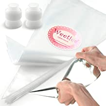 Weetiee Pastry Piping Bags -100 Pack-12-Inch Disposable Cake Decorating Bags Anti-Burst Cupcake Icing Bags for all Size Ti...