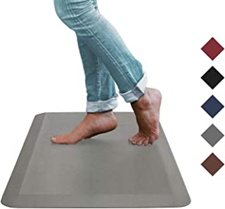 Oasis Kitchen Mat, Comfort Anti Fatigue Mat, 5 Colors and 3 Sizes, Perfect for Kitchens and Standing Desks, 20x39x3/4-Inch, Gray/Grey