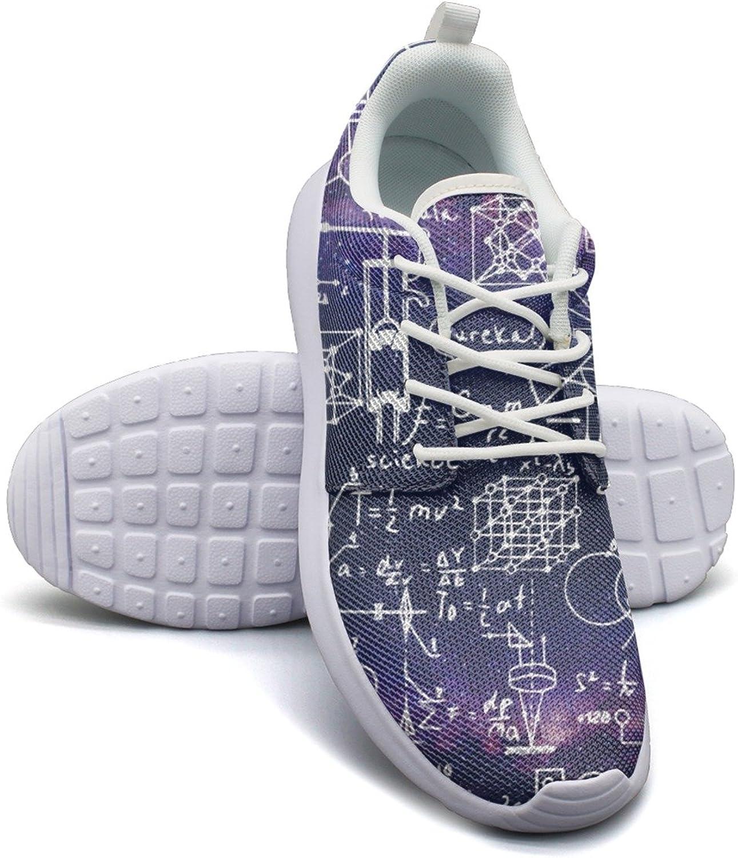 ERSER Physical Formulas Math Equations Mesh Running shoes Women