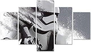 DJSYLIFE Star Wars Wall Decor Canvas Art 5 Piece Movie Poster Painting for Livingroom Childroom Home Artwork Unframed (No ...