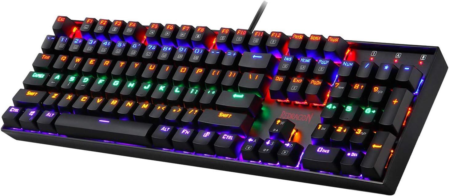 Redragon K551 OFFer Mechanical Gaming Keyboard Import RGB LED Backlit Rainbow