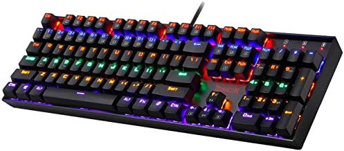 Redragon K551 Mechanical Gaming Keyboard RGB LED Rainbow Backlit Wired Keyboard with Red Switches for Windows Gaming PC (1...