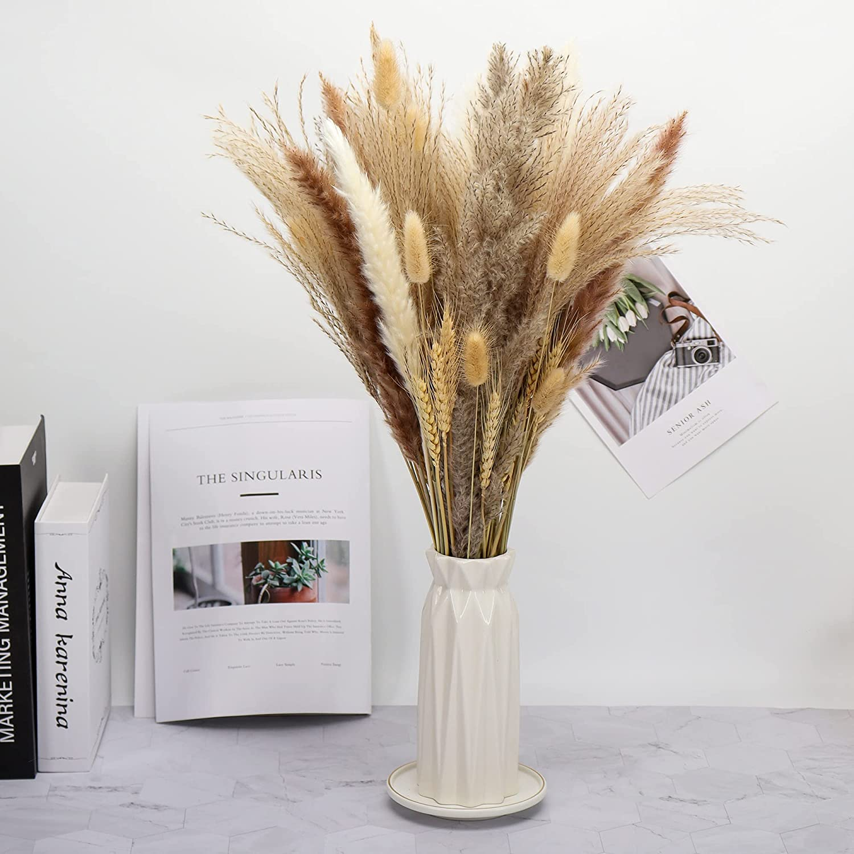 20 Pcs Pampas Grass, 20'' Natural Dried Pampas Grass Decor Plants Flower  Bouquet for Pampas Grass Vase, Boho Home Decor, Photography, Wedding,  Events, ...