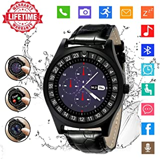 Smart Watch,Bluetooth Smartwatch Touch Screen Smart Phone Watch Android Smartwatch with Camera/SIM Card Slot Waterproof Bluetooth Smart Watch for Android Phones iOS iPhone Samsung Men Women