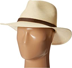 Panama Outback Hat with Leather Trim