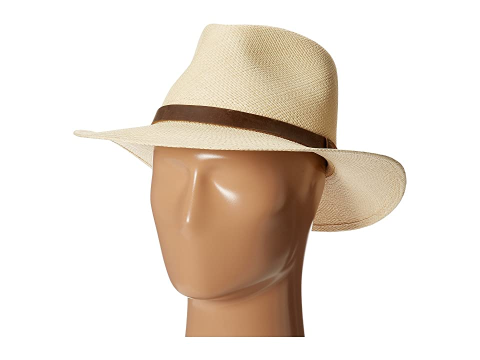 Tommy Bahama - Tommy Bahama Panama Outback Hat with Leather Trim