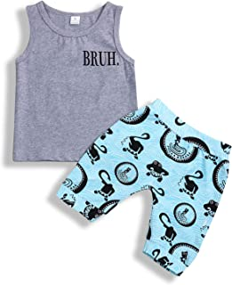 Baby Boys Girl's Summer Cotton Sleeveless T-Shirt Vest+ Short Pants Clothes Outfit Set