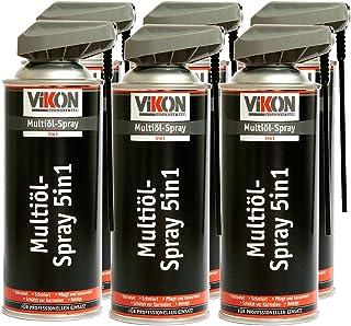 6 Dosen VIKON Multiöl 5in1 Spray 400 ml mit Spezial Sprühkopf   Schmiermittel, Rostlöser, Kontaktspray, Korrosionsschutz & Reiniger in einem Produkt
