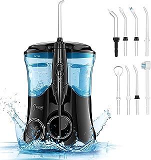 BESTOPE Irrigador Dental Profesional, 10 Presión Ajustables, 8 Boquillas Intercambiables, 600 ML Tanque de Agua Grande, Recomendado por el Dentista, Cuidando la Salud Dental Familiar, Regalo Más Ideal