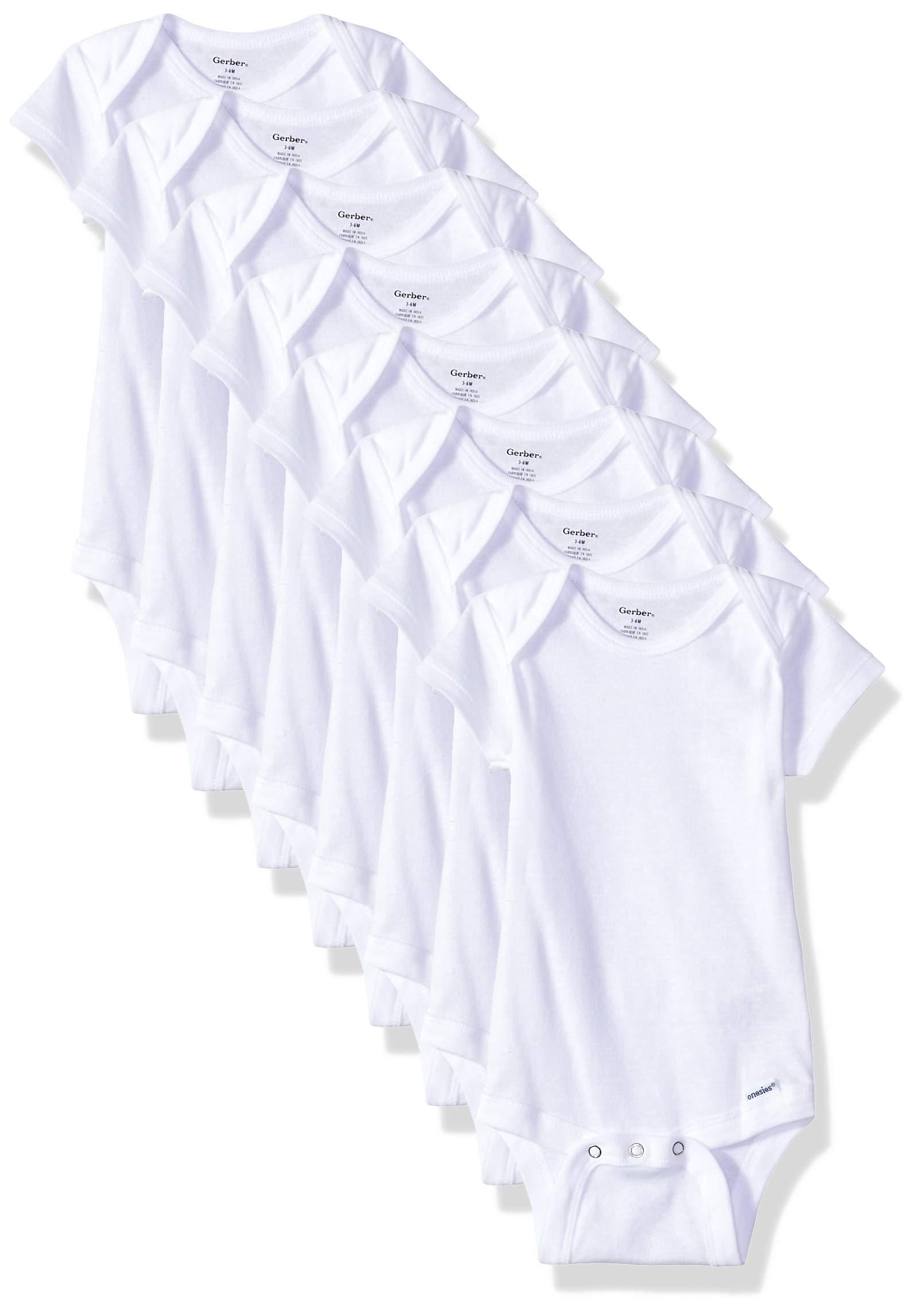 Gerber 8 Pack Short Sleeve Onesies Bodysuit