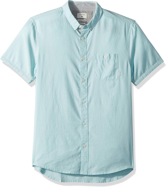 Quiksilver Camiseta de manga larga para hombre con dise/ño de cascada