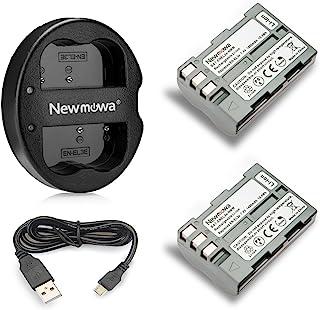 Newmowa En-EL3 Battery (2-Pack) and Dual USB Charger for Nikon EN-EL3e and Nikon D50, D70, D70s, D80, D90, D100, D200, D30...