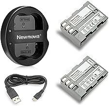 Newmowa EN-EL3e Replacement Battery (2-Pack) and Dual USB Charger for Nikon EN-EL3e and Nikon D50, D70, D70s, D80, D90, D100, D200, D300, D300S, D700