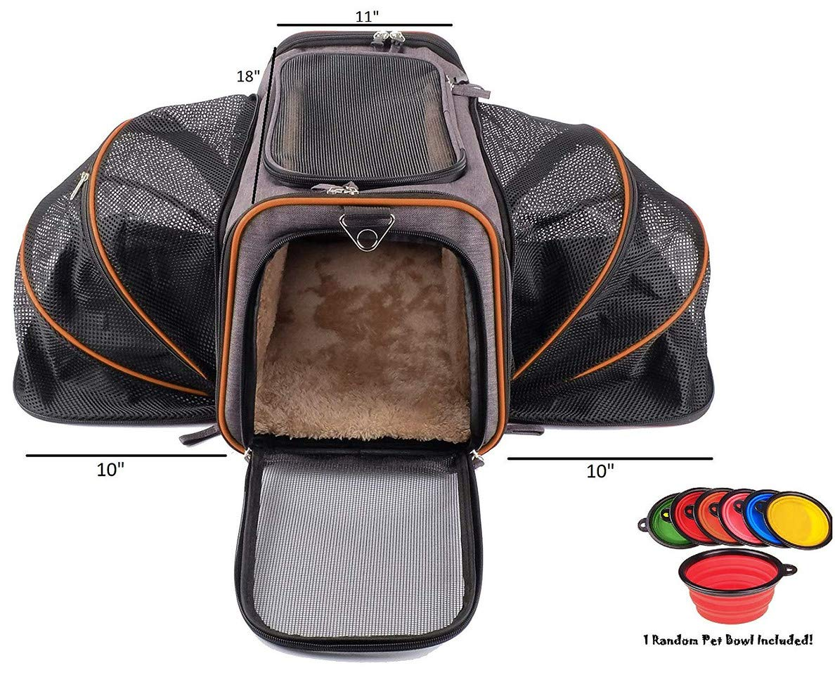Pet Peppy Transportín para mascotas, aprobado por las compañías aéreas, de calidad prémium, ampliable por dos lados, diseñado para gatos, perros, gatitos y perritos, muy espacioso y blando: Amazon.es: Productos para mascotas