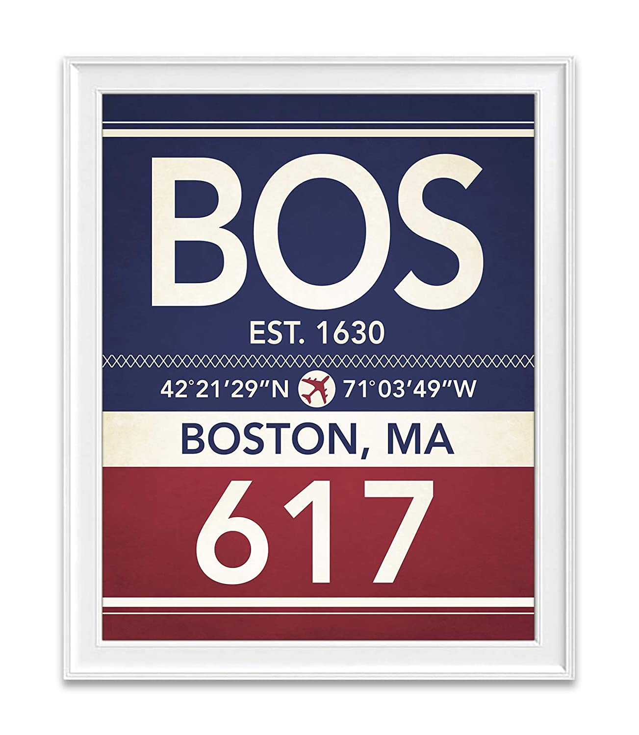 Boston Elegant Massachusetts Special price for a limited time Vintage Airport Area Coordinates S Map Code