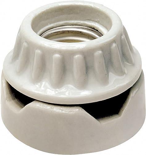 Leviton 001-09880 PORCELAIN LAMPHOLDER, White
