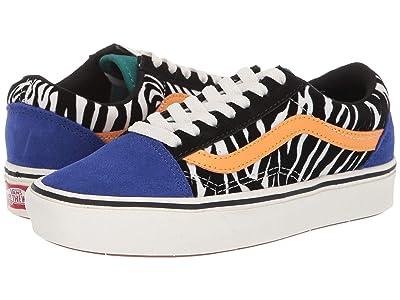 Vans Comfycush Old Skool ((Zebra) Tidepool/Surf the Web) Shoes