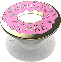 PopSockets: PopGrip with Swappable Top for Phones and Tablets - Enamel Donut Pink