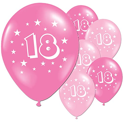 20 Fuschia And Pink 18th Birthday Party Balloons
