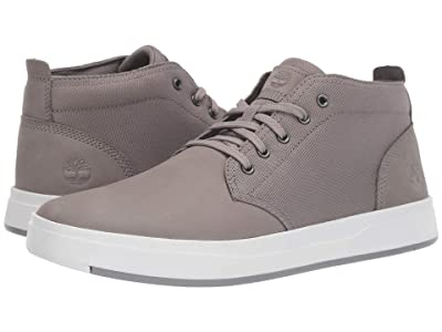 Timberland Davis Square Leather and Fabric Chukka (Medium Grey Nubuck) Men