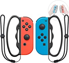 Boxing Grip for Nintendo Switch Joy-Con Fitness Boxing Game,Fit Boxing Clasp Accessories Handle for Adults and Children, 2 Packs (Black)
