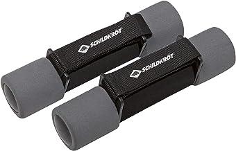 Schildkröt Fitness Soft Halterset, 2x 1,0 kg, zwart-antraciet, in draagtas, 960009