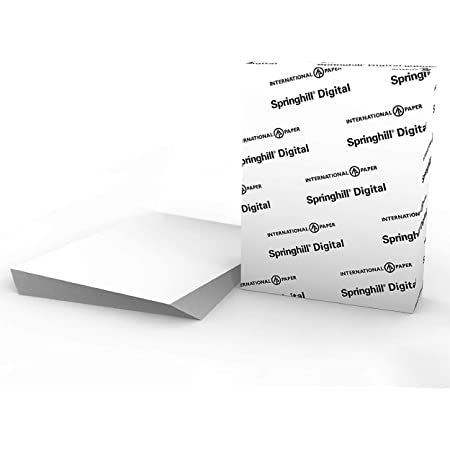 """Springhill White 8.5"""" x 11"""" Cardstock Paper, 90lb, 163gsm, 250 Sheets (1 Ream) – Premium Lightweight Cardstock, Printer Paper with Smooth Finish for Greeting Cards, Flyers, Scrapbooking – 015101R"""