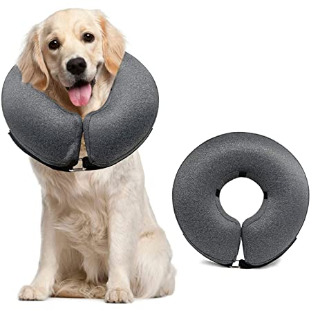 MIDOG Dog Cone Collar, Pet Inflatable Collar for After Surgery,Soft Protective Recovery Collar Cone for Dogs and Cats to Prevent Pets from Touching Stitches, Wounds and Rashes