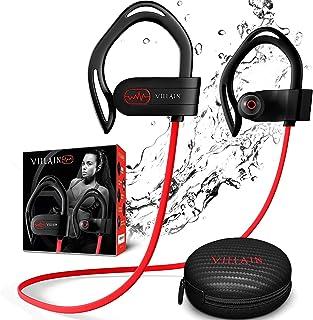 Villain Sport Headphones | Running Headphones | Workout Headphones | Gym Headphones | Wireless Bluetooth Earbuds IPX7 HiFi...