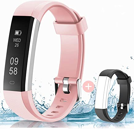HolyHigh Smart Fitness Band, Waterproof Fitness Tracker Watch for Men Women Kids Step Counter Claroie Counter Messages Call Alarm Reminder Cameral Shoot