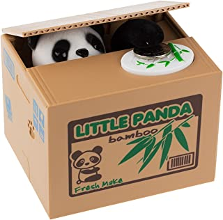 HmiL-U Piggy Bank Automatic Stealing Coins Cents Penny Christmas/Birthday Gift for Kids (Panda)