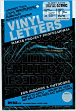 Graphic Products D3214-BLACK Permanent Adhesive Vinyl Letters and Numbers 1