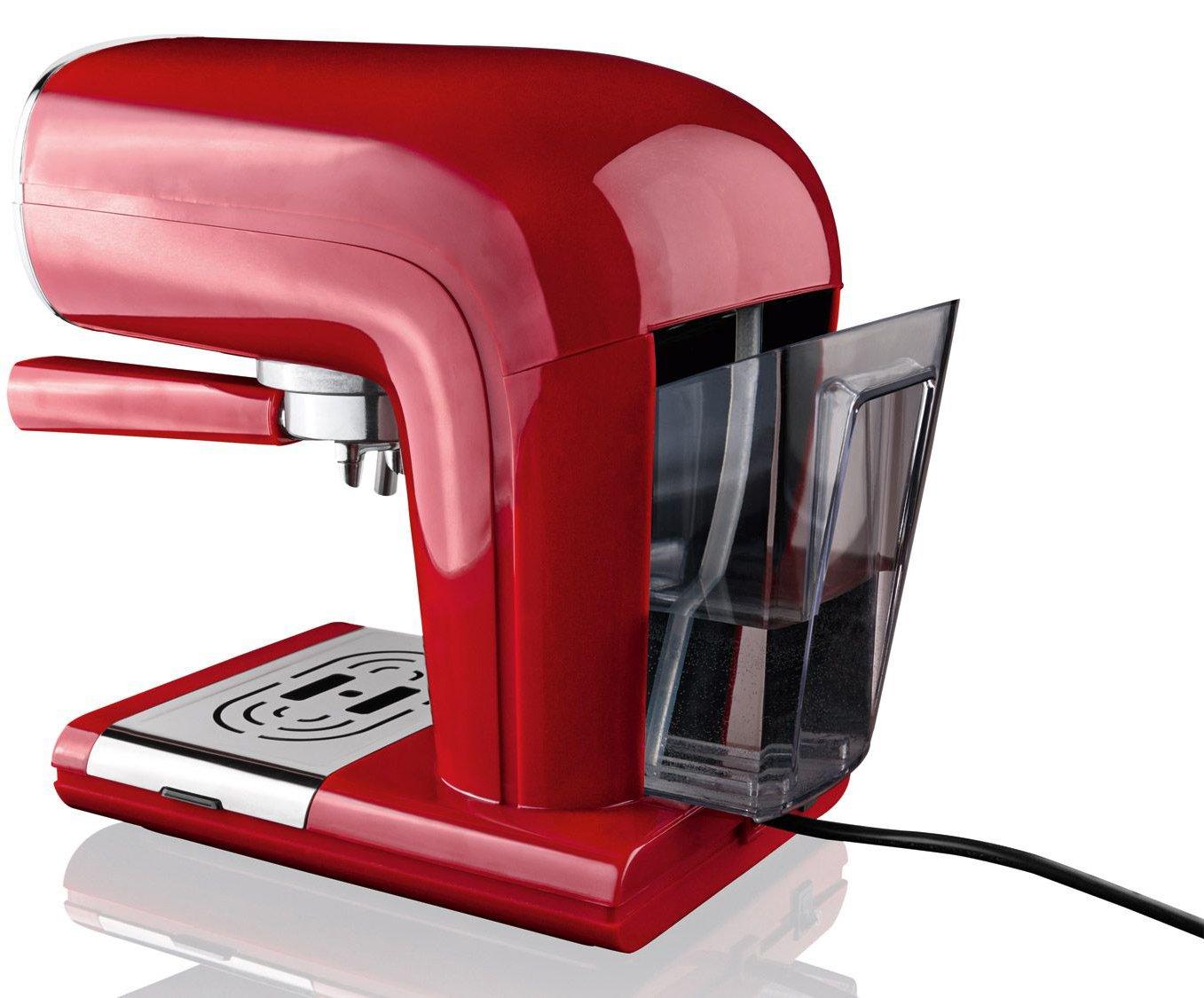 Silvercrest® Cafetera expreso semr 850 A1 rojo: Amazon.es: Hogar