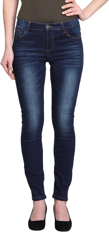 Allee Jeans Women's Dark bluee MidRise Ankle Skinny Jeans (AcaciaAK) (26)