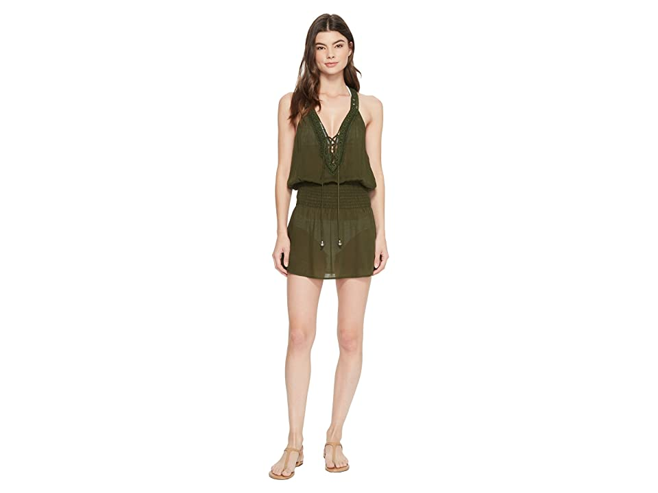 BECCA by Rebecca Virtue Globe Trotter Dress Cover-Up (Bay Leaf) Women