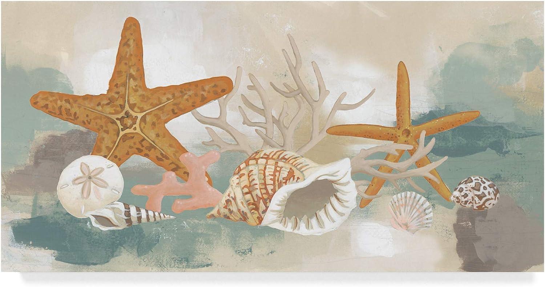 Trademark Fine Art Marine Tableau I by June Erica Vess, 10x19