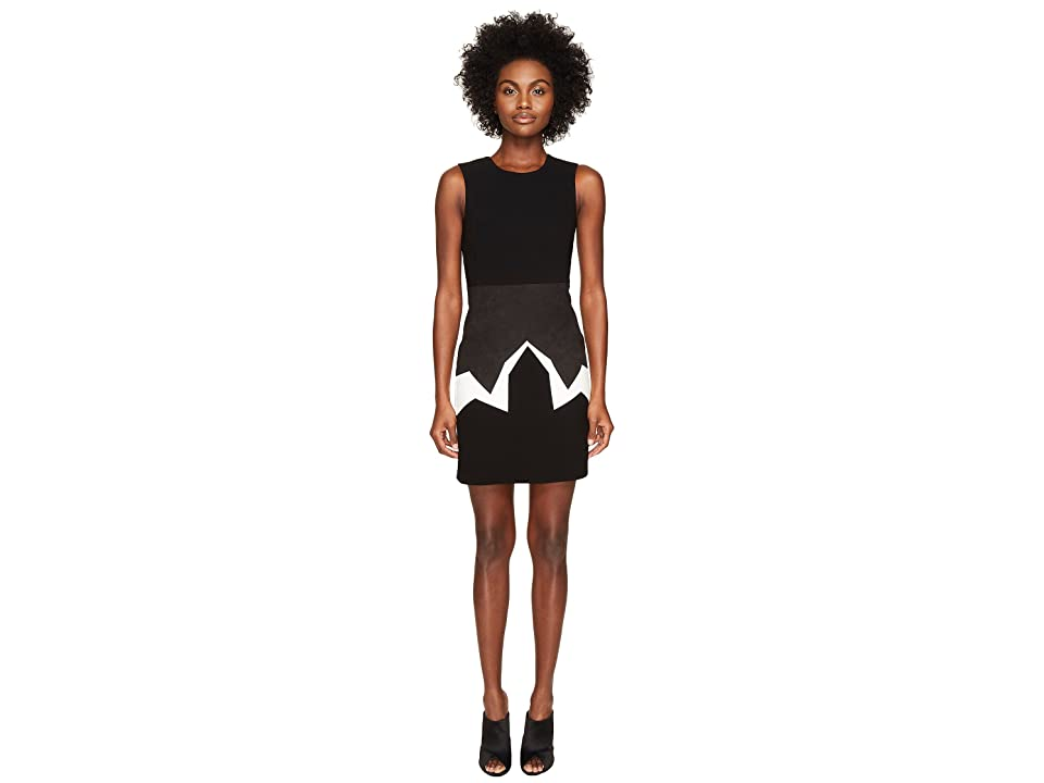 Neil Barrett Minimal Cowboy Mix Fabrics (Black/White) Women