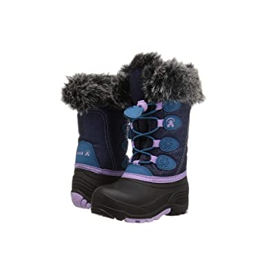 Kamik Kids Snowgypsy (Toddler/Little Kid/Big Kid) (Navy/Teal) Girls Shoes