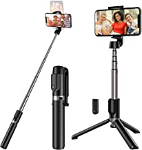 Yoozon Selfie Stick Tripod Bluetooth,Extendable Phone Tripod Selfie Stick with Wireless Remote Shutter Compatible with iPh...