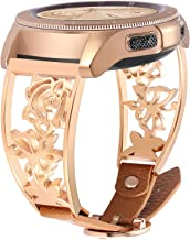 VIGOSS Bracelet Compatible with Galaxy Watch 42mm Bands/Active2 40mm Band Rose Gold Women 20mm Luxury Stainless Steel Jewe...