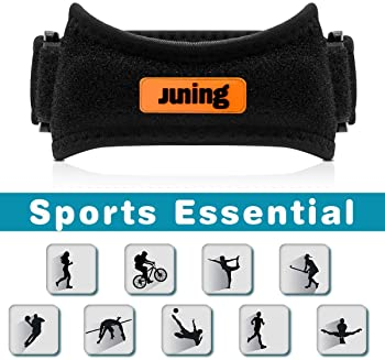 JUNING Knee Strap 2 Pack,Pain Relief Patellar Tendon Support,Knee Strap Brace Support for Hiking,Soccer,Basketball,Ru...